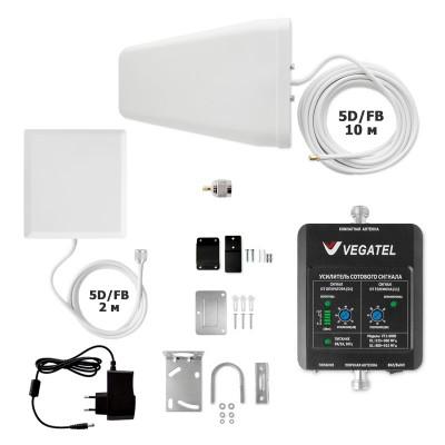 VEGATEL VT1-900E-kit (дом, LED) усилитель сигнала сотовой связи GSM и интернета 3G для дома