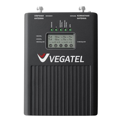 Репитер VEGATEL VT3-1800/3G (LED) усилитель сотовой связи и мобильного интернета 3G