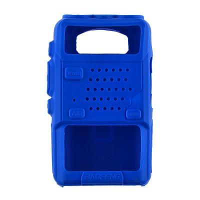 Чехол силиконовый Baofeng UV-5R (Kenwood TK-F8) синий