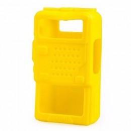 Чехол силиконовый Baofeng UV-5R (Kenwood TK-F8) желтый