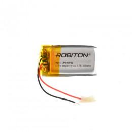 Аккумулятор ROBITON 3.7V 350мА LP602035 Li-Po с защитой