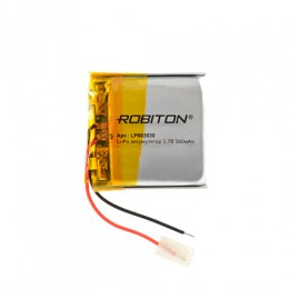 Аккумулятор ROBITON 3.7V 500мА LP603030 Li-Po с защитой