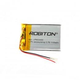Аккумулятор ROBITON 3.7V 1100мА LP603450 Li-Po с защитой