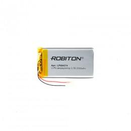 Аккумулятор ROBITON 3.7V 2300мА LP604374 Li-Po с защитой
