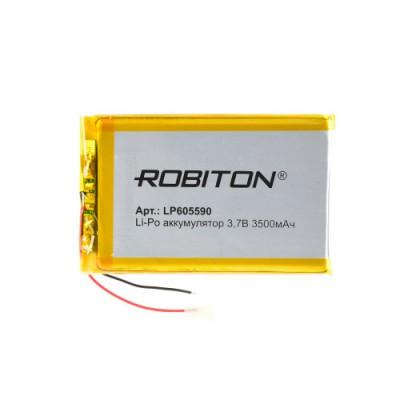 Аккумулятор ROBITON 3.7V 3500мА LP605590 Li-Po с защитой