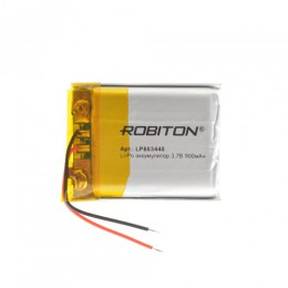Аккумулятор ROBITON 3.7V 900мА LP683440 Li-Po с защитой