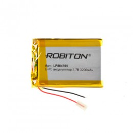 Аккумулятор ROBITON 3.7V 3200мА LP884765 Li-Po с защитой