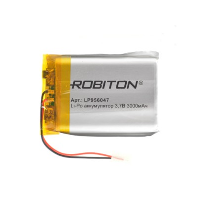 Аккумулятор ROBITON 3.7V 3000мА LP956047 Li-Po с защитой