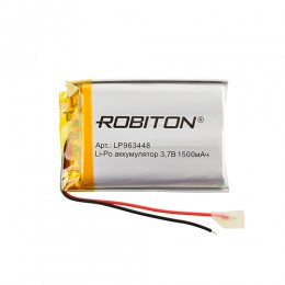 Аккумулятор ROBITON 3.7V 1500мА LP963448 Li-Po с защитой