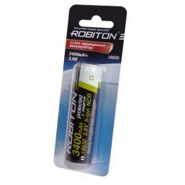Аккумулятор ROBITON 3.6V 3400мА 18650 Li-Ion ICR с защитой