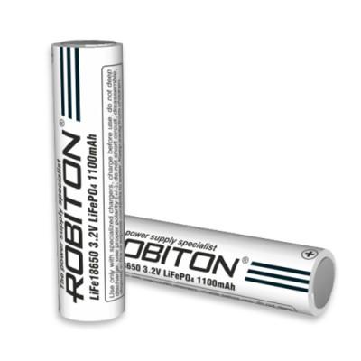 Аккумулятор ROBITON 3.3V 1100мА 18650 Li-FePo4 без защиты