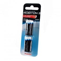 Аккумулятор ROBITON 3.7V 550мА 16340 Li-Ion ICR с защитой