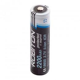 Аккумулятор ROBITON 3.7V 2200мА 18650 Li-Ion ICR с защитой
