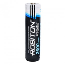 Аккумулятор ROBITON 3.7V 2600мА 18650 Li-Ion ICR с защитой