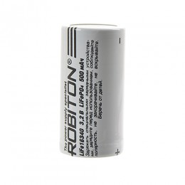 Аккумулятор ROBITON 3.2V 500мА Li-FePo4 16340 без защиты