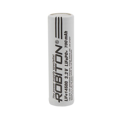 Аккумулятор ROBITON 3.2V 700мА Li-FePo4 14500 без защиты