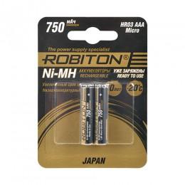 Аккумулятор ROBITON HR-4UTG 1.2V 750mA LSD Ni-MH AAA