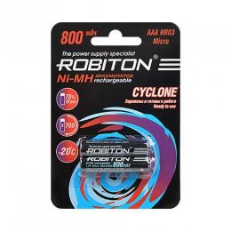 Аккумулятор ROBITON Cyclone 1.2V 800mA LSD Ni-MH AAA