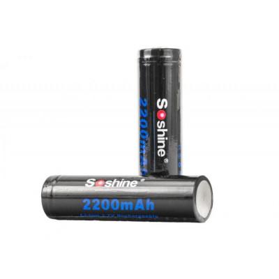Аккумулятор Soshine 3.7V 2200мА 18650 Li-Ion с защитой