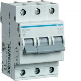 Автоматический выключатель Hager 3П 25А С 4,5кА (MY325)