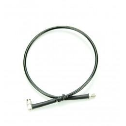 Кабельная сборка SMA-f - SMA-m угловой, кабель RG-58,  0.5 метра