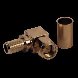 Разъем SMA-m угловой на кабель RG-58